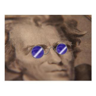 Währung in der Sonnenbrille Postkarte