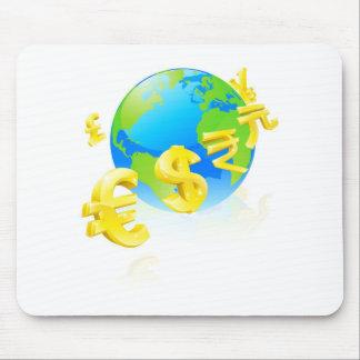 Währungszeichen-Kugelkonzept Mauspad
