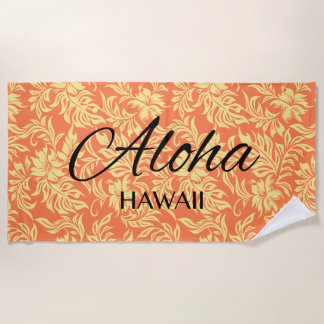 Waikiki Hibiskus-Hawaiianer-Aloha Blumenpapaya Strandtuch