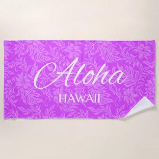 Waikiki Hibiskus-Hawaiianer-Aloha Blumenveilchen Strandtuch