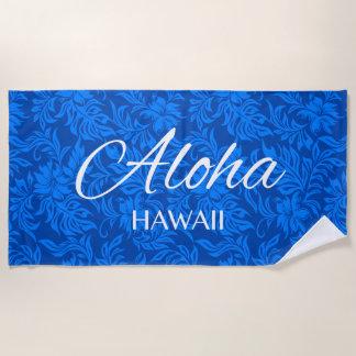 Waikiki Hibiskus-Hawaiianer-Aloha königliches Mit Strandtuch