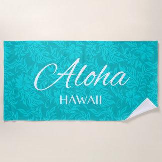 Waikiki Hibiskus-Hawaiianer-Aloha mit Strandtuch