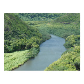Wailua Fluss- Kauai, Hawaii Postkarte