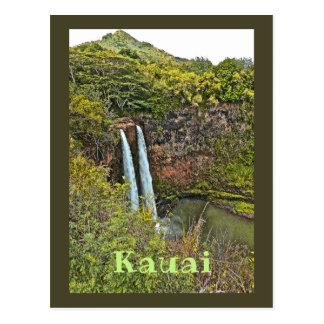 Wailua Wasserfall in Kauai Postkarte