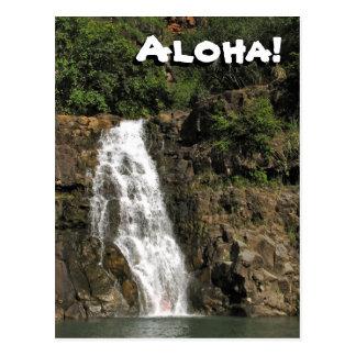 Waimea Audubon Wasserfall von Hawaii-Postkarte Postkarte