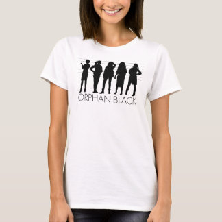 Waisencharakter-Silhouette des SCHWARZ-| T-Shirt