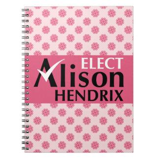 Waisenschwarzes wählen Alison Hendrix Notizbücher