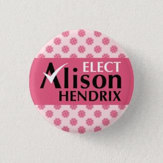 Waisenschwarzes wählen Alison Hendrix Runder Button 3,2 Cm