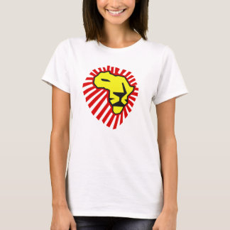 Waka Waka rotes Mähnen-Gelb-Löwe-Afrika-Shirt T-Shirt