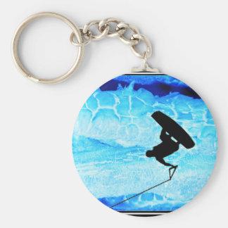 wakeboard Eis Standard Runder Schlüsselanhänger
