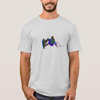 Wakeboard Farbstrudel-T - Shirt