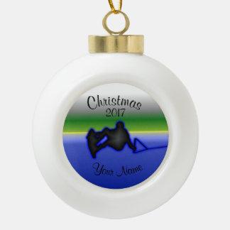 Wakeboard Keramik-Ball-Weihnachtsverzierung Keramik Kugel-Ornament
