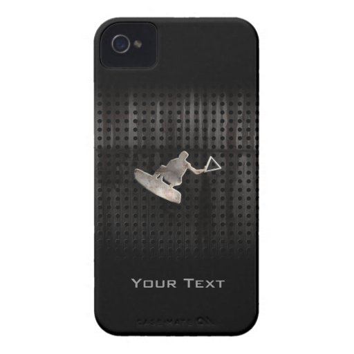 Wakeboarder; Cooles Schwarzes iPhone 4 Cover