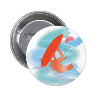 Wakestyle durch das Shirt zum zu entwerfen Runder Button 5,7 Cm