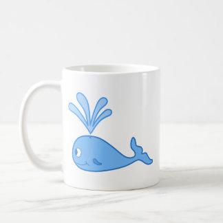 Wal, blau kaffeetasse