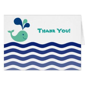 Wal danken Ihnen Mitteilungskarte
