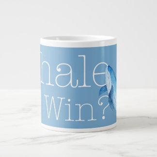 Wal, den wir gewinnen? Tasse in Carolina-Blau