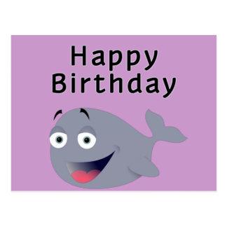 Wal einer Zeit - alles Gute zum Geburtstag Postkarte