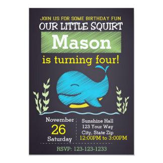 Wal-Geburtstags-Einladung (Junge) Karte