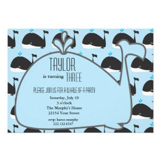 Wal-Geburtstags-Party Einladung