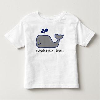 Wal hallo dort kleinkind t-shirt