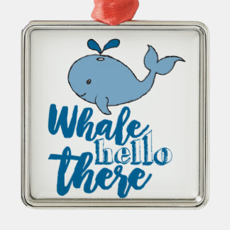Wal hallo dort silbernes ornament
