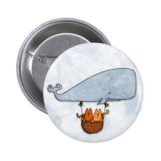 Wal-Kätzchen Runder Button 5,7 Cm