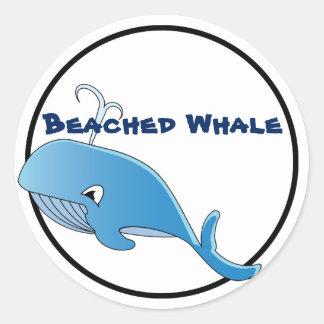 Wal - klassischer runder Aufkleber, glattes  Runder Aufkleber