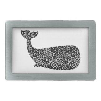 Wal mit Giraffendruck Rechteckige Gürtelschnalle