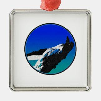 Wal Quadratisches Silberfarbenes Ornament