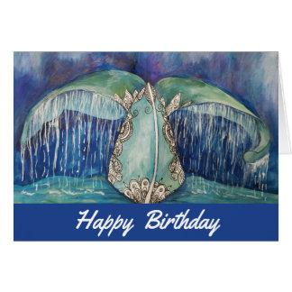 Wal-Schwanz-Geburtstagskarte Karte