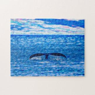 Wal-Schwanz vor der Küste von Maui, Hawaii Puzzle