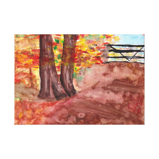 Wald im Fall Leinwanddruck