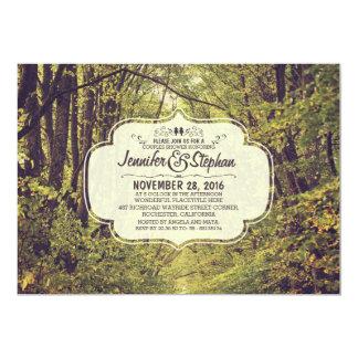 Wald inspirierte Baumalleen-Paardusche 12,7 X 17,8 Cm Einladungskarte