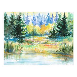 Wald Postkarte