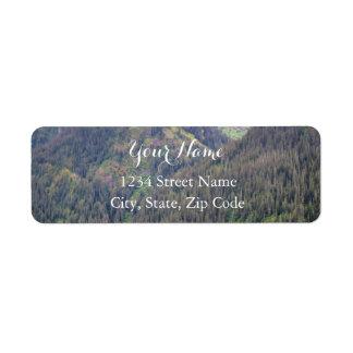 Wald-und Gebirgsadressen-Etiketten