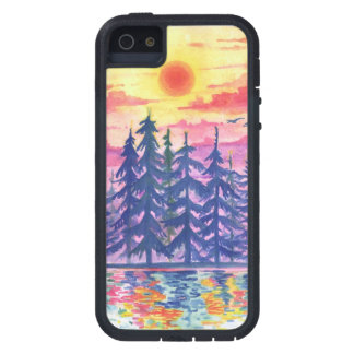 Wald und See an der Dämmerung, iPhone5/5s iPhone 5 Hüllen