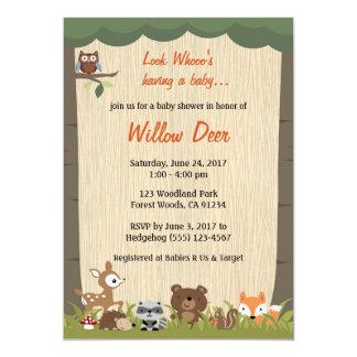 WaldBabyparty laden *boy/girl/surprise* ein 12,7 X 17,8 Cm Einladungskarte
