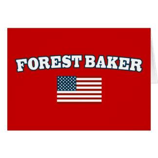 Waldbäcker für Amerika Karte