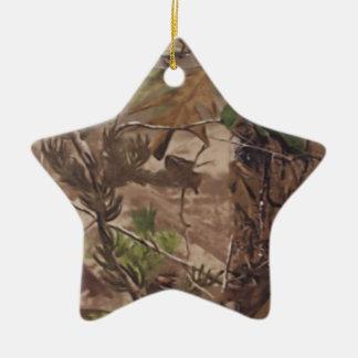 WaldCamouflage-Baum-Verzierung Keramik Stern-Ornament