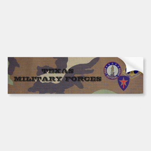 WaldCamouflage, TX Militärkräfte Auto Sticker
