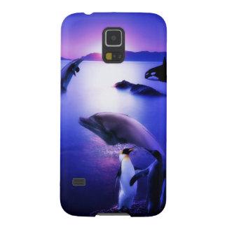 Waldelphin-Pinguin-Ozeansonnenuntergang Samsung S5 Cover