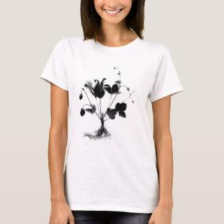 Walderdbeere oder Fragaria vesca (Schwarzes) T-Shirt