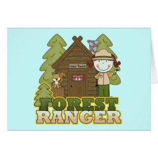 Waldförster - brünettes Mädchen Karte