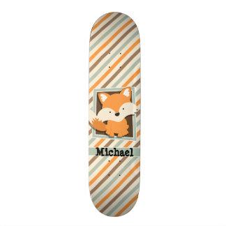 WaldFox; Weises Grün, Orange, Brown-Streifen Personalisierte Decks
