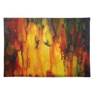 Waldgeist - abstrakte flüssige Malerei Tischset