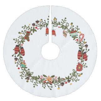 WaldKranz-Entwurf - Weihnachtsbaum-Rock Polyester Weihnachtsbaumdecke