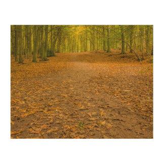"""""""Waldland im Herbst"""" Entwurfs-Wandkunst Holzwanddeko"""