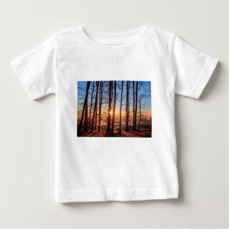 Waldlandschaftssun-Baum-Natur-Holz-Winter Baby T-shirt