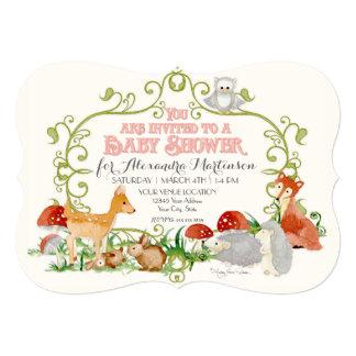 WaldMärchen-Babyparty-Einladungs-Karten 12,7 X 17,8 Cm Einladungskarte
